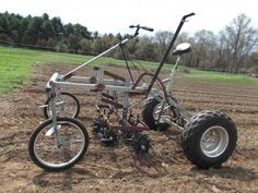 Farm Hack | pedal powered tractor  http://farmhack.org/tools/culticycle