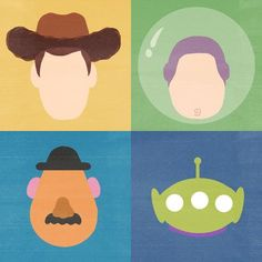 Toy Story - Minimalist Poster by raquelsegal on DeviantArt Disney Canvas Art, Small Canvas Art, Mini Canvas Art, Disney Art, Toy Story Movie, Toy Story Alien, Toy Story Party, Alien Painting, Cartoon Painting