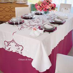 kit filati per fare ricamo su tovaglia da 8 Cutwork Embroidery, Dinner Table, Doilies, Table Runners, Tablescapes, Interior Decorating, Table Settings, Table Decorations, Pattern
