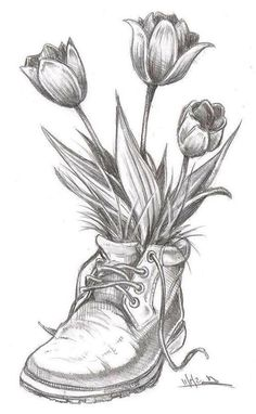 Dumbfounding Best Practice Pencil Sketch Drawings - Architecture and Art - Dumbfounding best pencil sketch drawings to practice with - Pencil Sketch Drawing, Pencil Art Drawings, Flower Drawings, Best Pencil, Tulips, Coloring Pages, Pretty, Flowers, Artwork