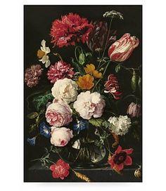 Prints auf Holz, Golden Age Flowers 2, XL