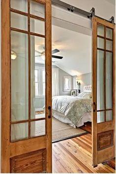 Choosing a French Door For Your Home Door Design, French Doors Bedroom, Home, Attic Master Bedroom, Glass Door, Bedroom Design, Doors Interior, Salvaged Doors, Glass Barn Doors