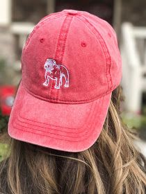 5b6f8d866f8 Cute UGA Bulldogs vintage style hat for women. Super cute game day ball caps  and