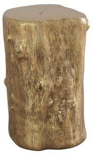 Small Log Stool, Gold
