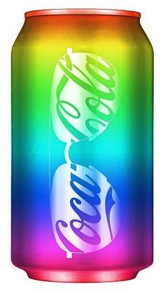 Rainbow neon color Coke can   (¯`'•.¸de l'arc-en-ciel¸.•'´¯)