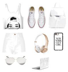 """Untitled #61"" by brooklynjlee ❤ liked on Polyvore featuring beauty, River Island, Converse, Mansur Gavriel, Casetify and Victoria Beckham"