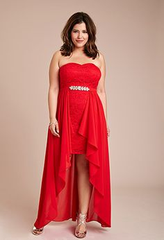Draped Chiffon Lace Dress | Forever 21 PLUS - 2000076974