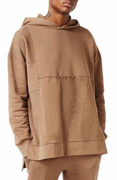 Brown Topman AAA Collection   paneled Oversized Sweater.