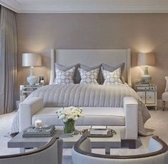 Modern Bedroom Ideas In 2020 [Bedroom Designs & Decor Ideas] Modern Master Bedroom, Modern Bedroom Design, Master Bedroom Design, Contemporary Bedroom Furniture, Bedroom Apartment, Home Bedroom, Bedroom Inspo, Luxurious Bedrooms, My New Room