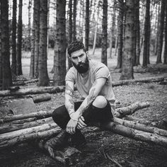 forest photo man model black n white - Google Search