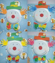 I Capelli del Clown dalle Impronte dei Bambini