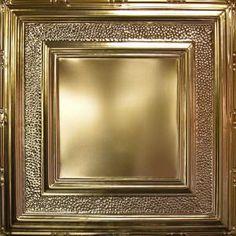 Metallic Gold Metal Ceiling Tile AT 6 #Tin # Ceiling # Drop# Ceiling# Metal #Ceiling #Tin #Tiles #Metallic Gold Metal, Metal Ceiling, Metal Tins, Gold Ceiling, Tiles, Metal Ceiling Tiles, Ceiling, Metal, Home Decor