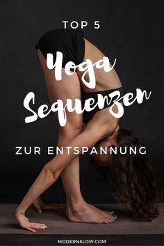 In diesem Beitrag findest Du meine liebsten frei zugänglichen Yoga-Sequenzen, die ich gerne Abends oder wann immer ich mir eine Auszeit gönnen möchte, praktiziere. | modernslow.com