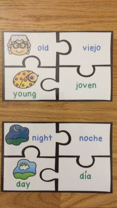 Antonyms in Spanish Opposite Words Game Puzzles ELL ESL Newcomer Activity