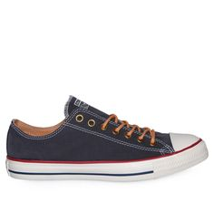CHUCK TAYLOR OX CONVERSE Grey Canvas Low-cut Sneakers with Leather Brown  Laces. Ανδρικά υφασμάτινα γκρι παπούτσια με δερμάτινα καφέ κορδόνια. 419968010a9
