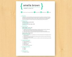 elegant simple green bright microsoft word resume 1 2 pages template template