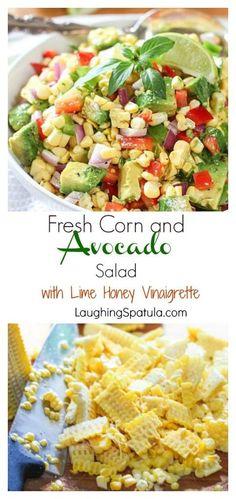Corn and Avocado Salad with Lime Honey Vinaigrette