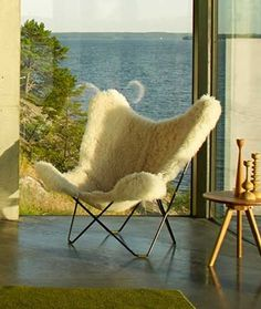 The sun sets upon your day but don't worry, the Cuero sheepskin butterfly chair is there to keep you warm. More than a modern armchair - surround yourself with beautiful home décor.  Relax in comfort. Relax in style.
