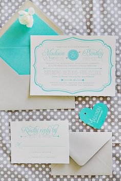 Lovely Turquoise & Gray Wedding Inspiration