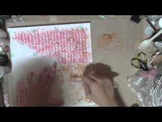 Mixed Media Layout Scrap Around the World - YouTube