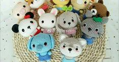 45 Ideas For Crochet Beanie Size Chart Free Pattern Crochet Animal Amigurumi, Crochet Animal Patterns, Amigurumi Doll, Amigurumi Patterns, Crochet Animals, Crochet Dolls, Crochet Gifts, Diy Crochet, Crochet Baby