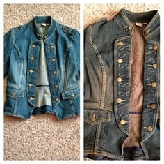 Jacket before/after Peacocks and Leopards : Muddy Dirty Dye