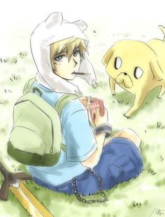 Adventure Time Anime | anime finn and jake - Adventure Time Fanart