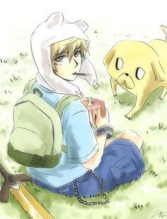 Adventure Time Anime | anime finn and jake - Adventure Time Fanart
