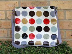 Purse medium sized crossbody bag oilcloth bag by Enchantingcrafts, £25.00