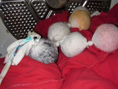 Felted Balls in the Dryer