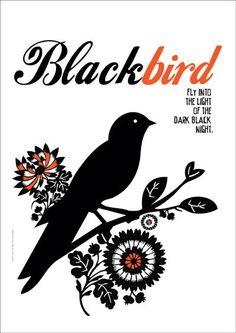 Beatles Poster Music BLACKBIRD Art print by PeanutoakPrint on Etsy, $23.00