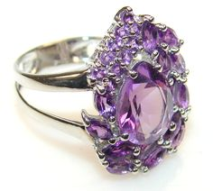 $69.15 Lovely Amethyst Sterling Silver Ring s. 6 at www.SilverRushStyle.com #ring #handmade #jewelry #silver #amethyst