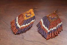 SALE handmade bead earrings native weaving by handmadewarrior, $65.00