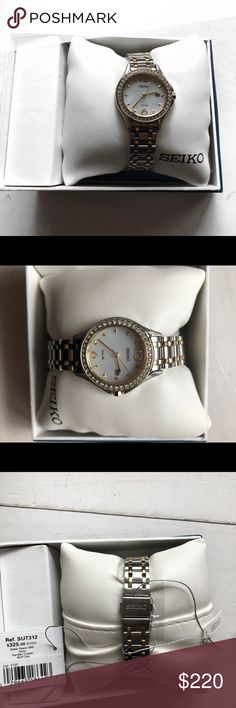 WILL TAKE ANY OFFER. Brand new Seiko watch Brand new. Never worn In perfect condition. With tags and original box. I'm selling it because it's just not my style  Real crystal Water resistant  Solar powered   Feel free to make an offer I'm happy to negotiate No low bawling please Seiko Jewelry