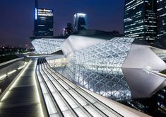 'guangzhou opera house' by 2004 pritzker laureate and pritzker juror zaha hadid, located in the guangdong province, china  image © iwan baan