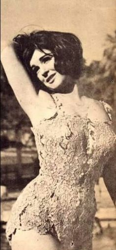 Soad Hosny in a pretty swimming dress. سعاد حسني