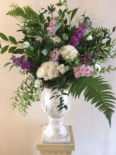 Urn arrangement by Apple Blossom Flowers