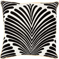 """18"""" Down Fill Poly Pillow in Charcoal, Tangerine and Ivory"""