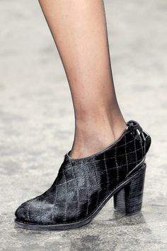 The shoes, close-up, at Rag & Bone Fall 2013 runway #NYFW