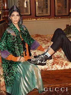 "Exquisitely decadent fashion empire Gucci took to the lavish manors of the U. for a ""Portrait of Chatsworth"" Gucci Cruise 2017 campaign. Vanessa Redgrave, The Face, Air Jordan, Glen Luchford, Reebok, Nba, Trump Models, Gucci 2017, Gucci Gucci"