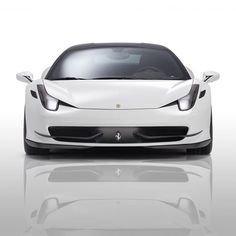 Perfect White Ferrari