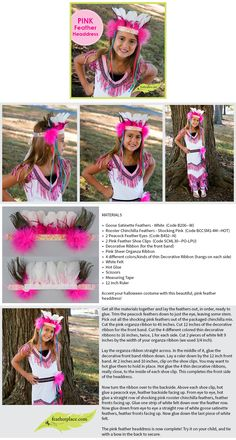 Pink Feather Headdress #diy #feathercrown #diywithfeathers #thefeatherplace