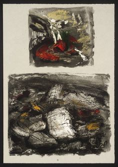 ✽   john piper  -  untitled, from 'stones and bones' -  screenprint on paper    -  1978