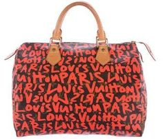 fb5dbb9894c0 Save on the Louis Vuitton Speedy Monogram Graffiti (Limited Edition) Hot  Pink   Brown Leather Satchel! This satchel is a top 10 member favorite on  Tradesy.