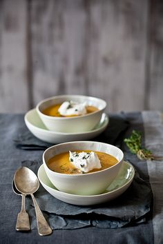 Acorn squash & sweet potato soup