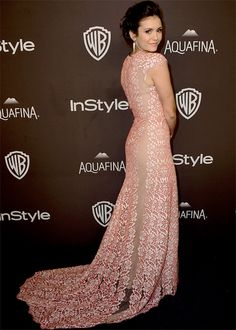 Nina Dobrev at the InStyle And Warner Bros. 2016 Golden Globe Awards After Party in Beverly Hills.