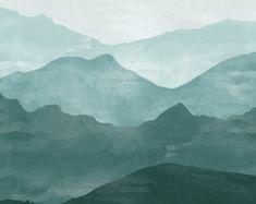 Fond d'écran de peinture murale - scène de la Nature, montagne