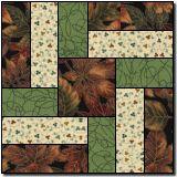 Interlocked Squares / three fabric quilt design