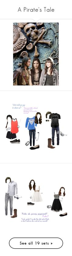"""""""A Pirate's Tale"""" by secretly-a-fangirl ❤ liked on Polyvore featuring art, New Look, Paige Denim, NIKE, Balmain, Changes, Ariat, Verali, Pandora and Hot Topic"""