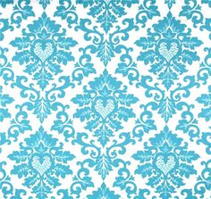 Designer Blue Home Decor Fabric, Cotton Fabric by the Yard, Shades of Blue Drapery or Upholstery Yardage, Pillow or Craft Fabric